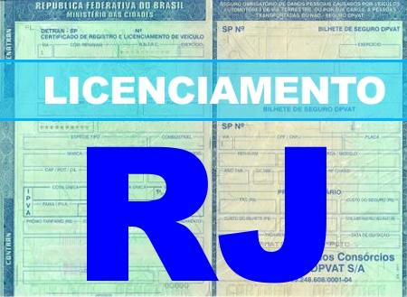 Licenciamento 2021 RJ - Tabela, Valor, Consulta